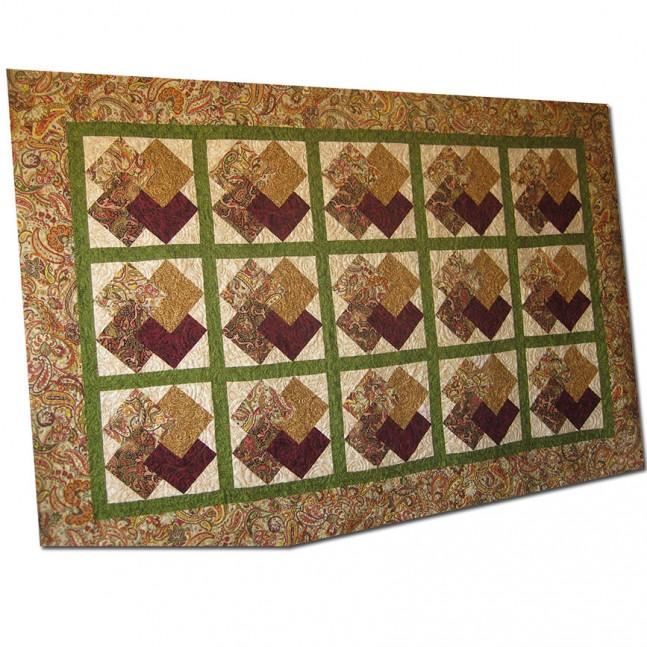 Manta de 2,36 x 1,55 m hecha con el diseño de cartas
